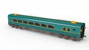 3D vagon train model