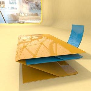 design table home office 3D model