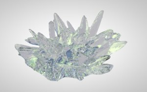 3D crystal mineral nature model