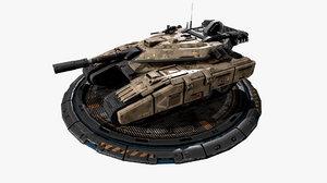 3D vehicle light tank -