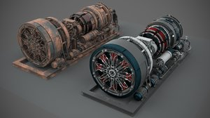 machinery device industrial 3D model