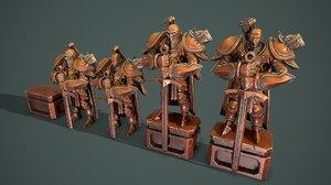 knight statue 3D model
