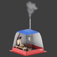 3D tents bathhouses