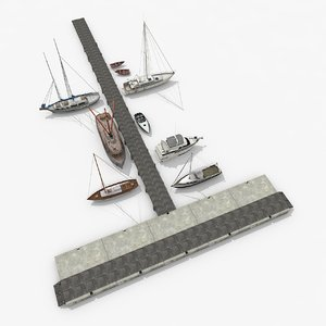 large piers sailboats v1 3D