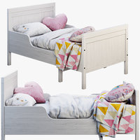 3D model ikea sundvik bed