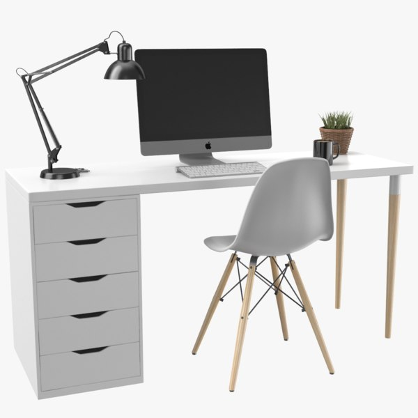 real desk 3D model