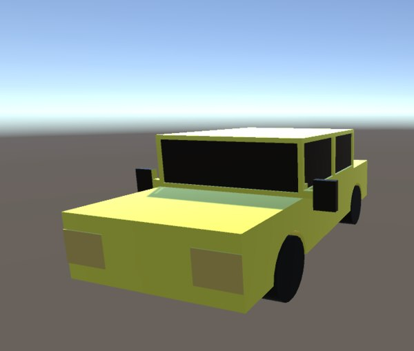 3D car sketchup model