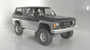 1990 nissan patrol 3D model