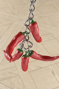 3D chili pepper trinket