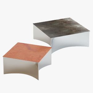 castelli alchemy small tables 3D model