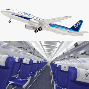 nippon airlines airbus a320 3D model