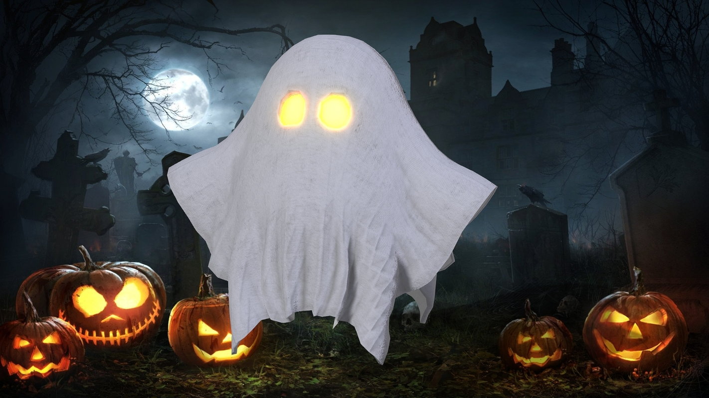 3D rigged ghost model