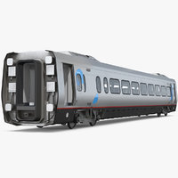 3D model acela express coach rigged