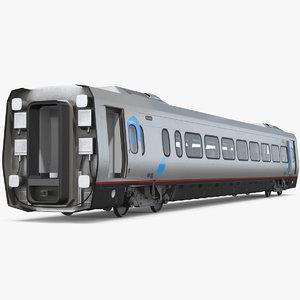 3D model acela express coach rigged