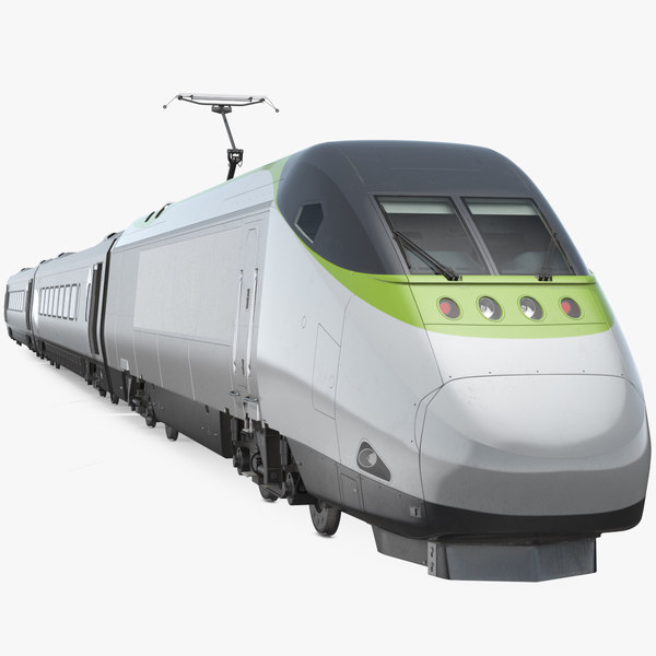 express train generic rigged 3D model
