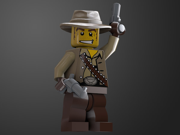 rigged ready cowboy lego character 3D model