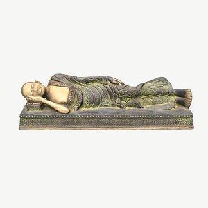 sculpture gandhi 3D model