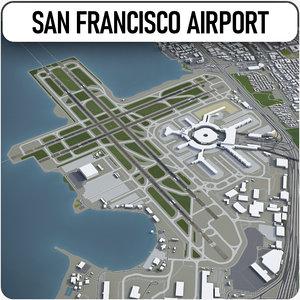 3D model san francisco international airport