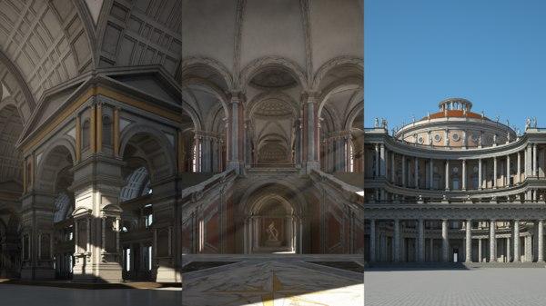 3D model classical building
