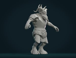 demon figure 3D