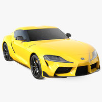 3D toyota supra 2019 simple model