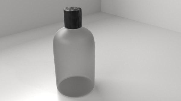 3D plastic bottle 10 shampoo