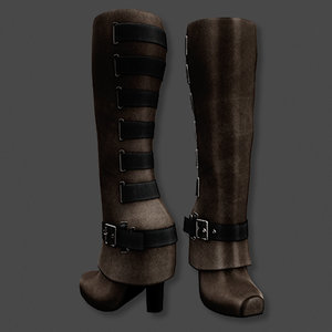 boots brown 3D