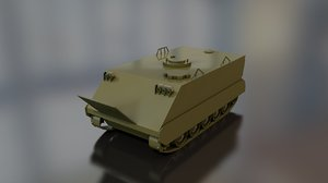 3D m-113 armored military tank