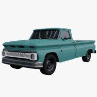 3D 1966 chevrolet c20 pickup truck