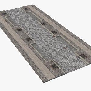 cobblestone fragment street stone 3D model