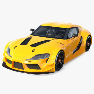 toyota supra concept car 3D