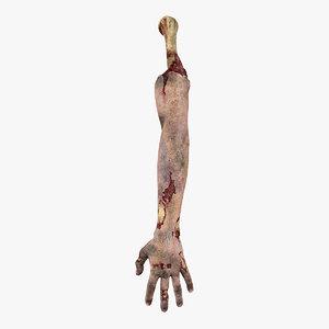3D zombie hand