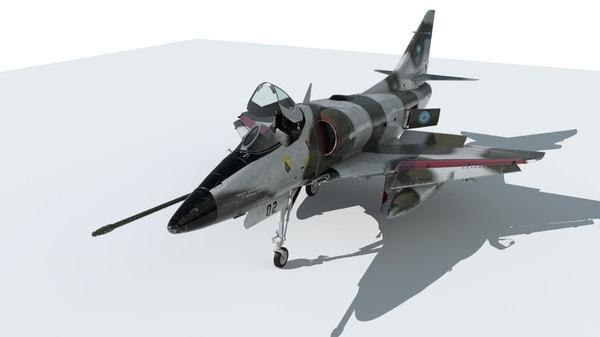 3D skyhawk war 1982 model
