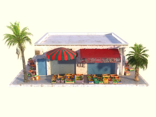 3D arabic fruit store hd model