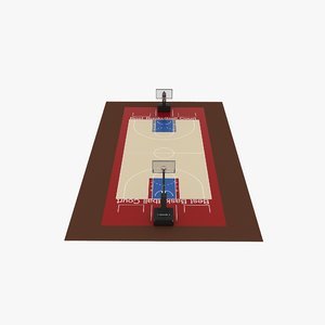 arena basketball ball 3D model