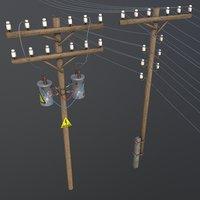 set electric poles model