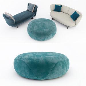 giorgetti galet sofa 3D model