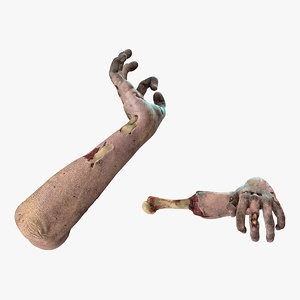 zombie arms attack pose model