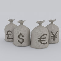3D money bag model