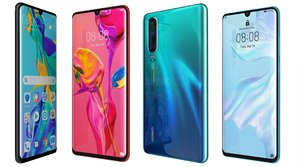 huawei p30 colors 3D model