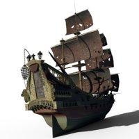 pirates queen anne s 3D