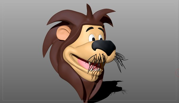 3D model cartoon lions head
