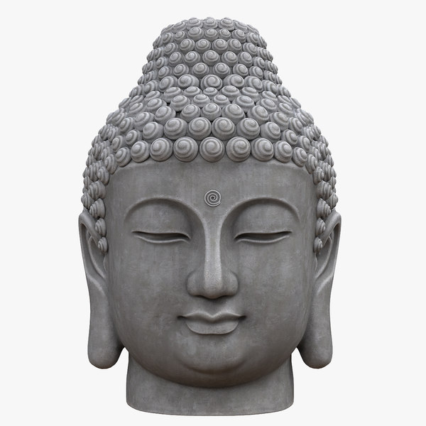 3D buddha head model