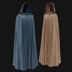 3D model male female cloak