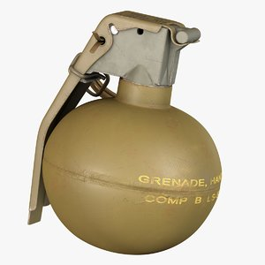 fragmentation infantry hand grenade 3D model