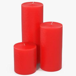 candles 3 3D model
