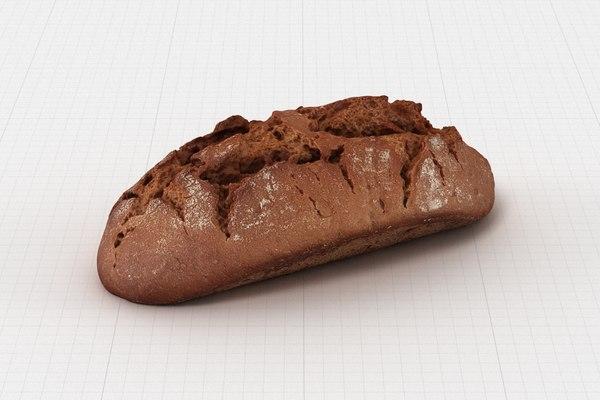 bread bun roll 3D model
