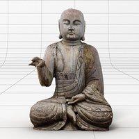 wooden buddha statue 3D