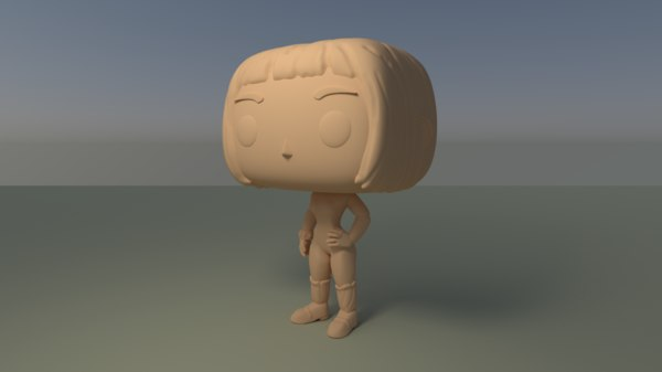 3D custom pop female short model