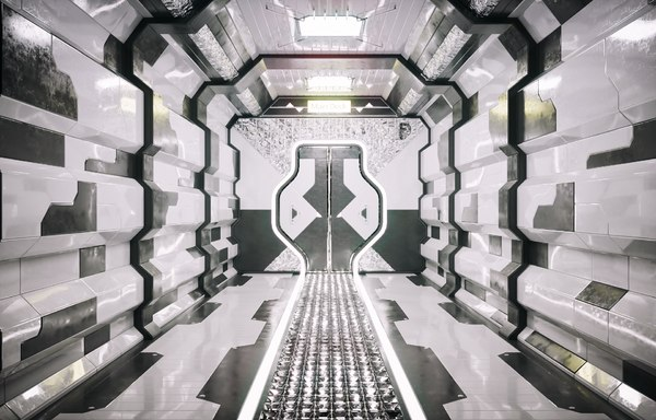 concept sci fi corridor 3D model
